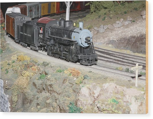 Steam Engine 42 Wood Print by Hugh McClean