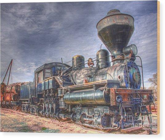 Steam Engine 7 Wood Print by Katie LaSalle-Lowery