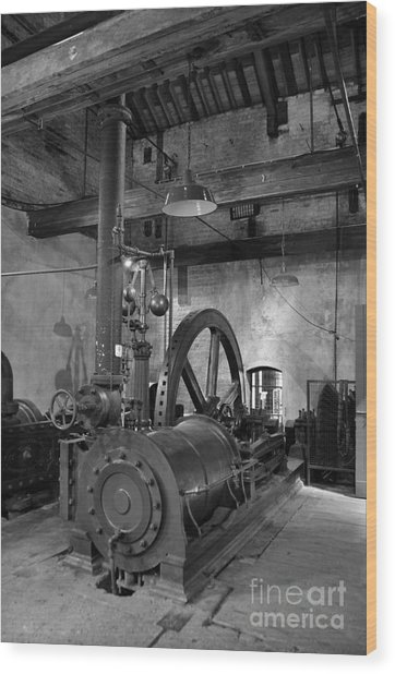 Steam Engine At Locke's Distillery Wood Print