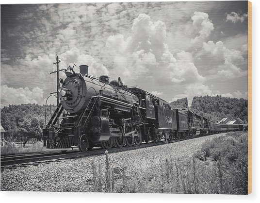 Steam Engine Wood Print by Darrin Doss