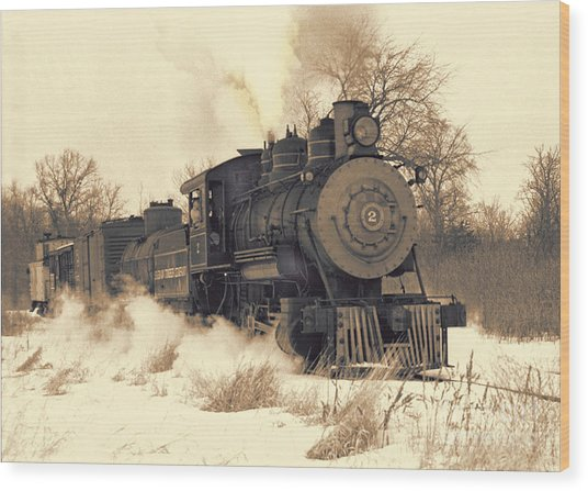 Steam Engine Number Two Wood Print by Robert Kleppin