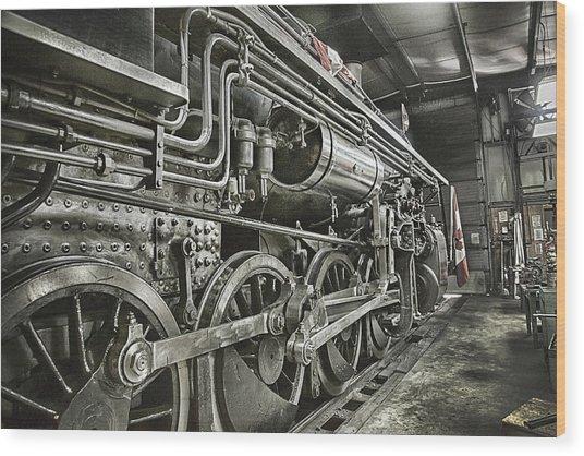 Steam Locomotive 2141 Wood Print