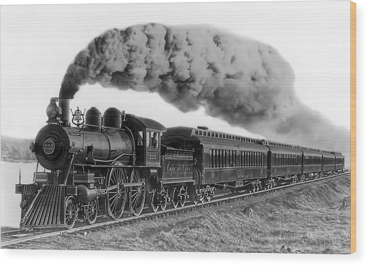 Steam Locomotive No. 999 - C. 1893 Wood Print