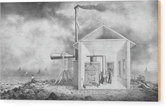 Steam-powered Foghorn Wood Print