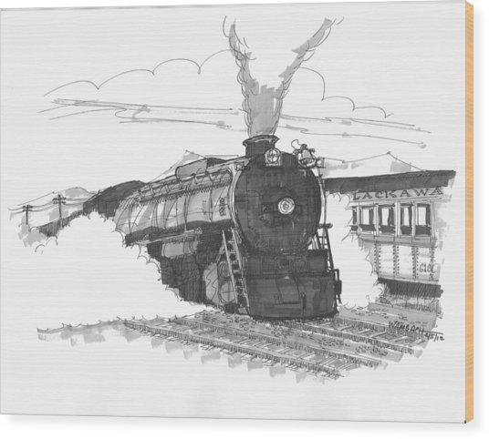 Steam Town Scranton Locomotive Wood Print