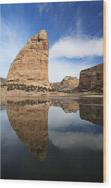 Steamboat Rock Face Wood Print