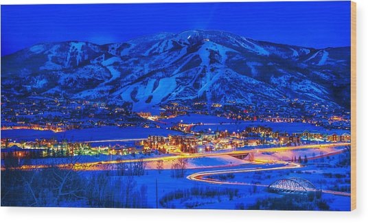 Steamboat Springs Wood Print
