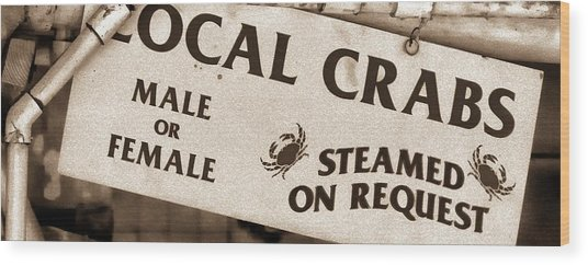 Steamed Crabs - Mike Hope Wood Print