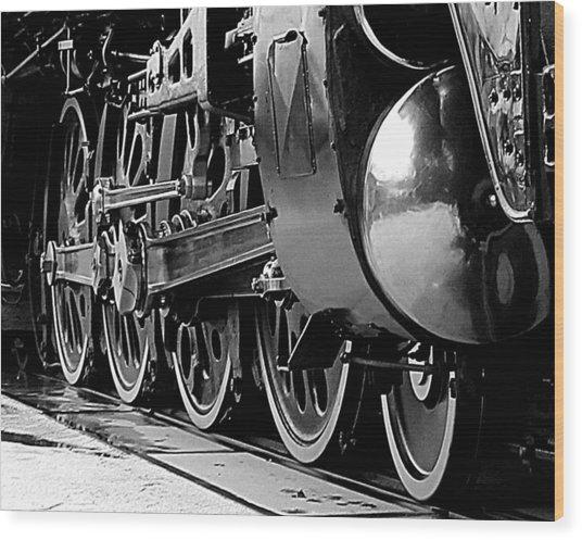 Steamer Up 844 Wheels Wood Print
