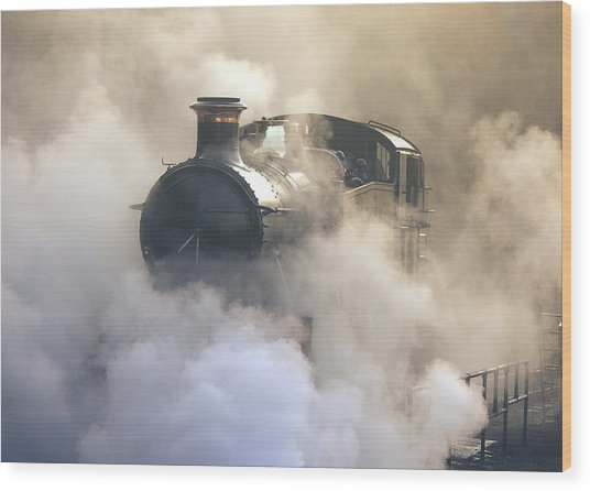 Steaming At Dawn No1 Wood Print