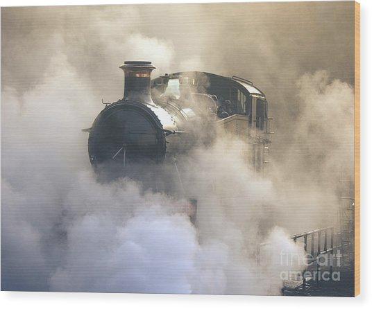 Steaming At Dawn No1 Wood Print