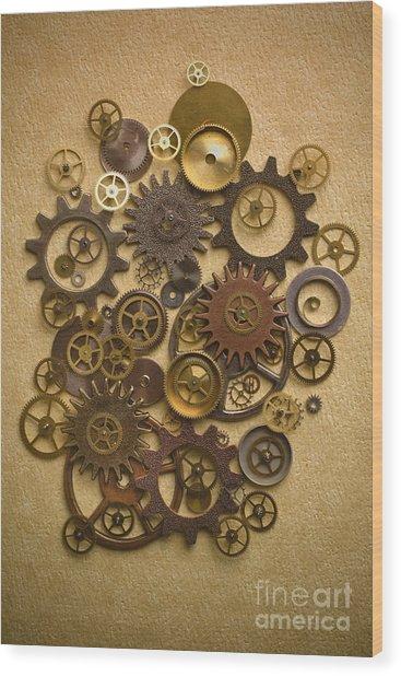 Steampunk Gears Wood Print