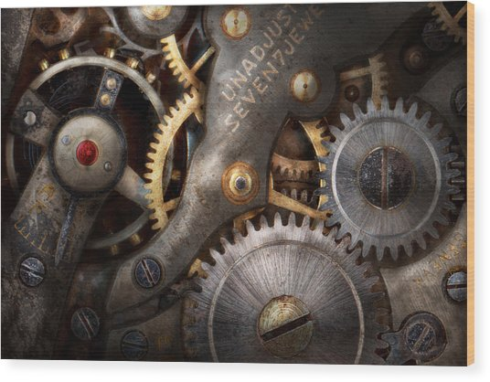 Steampunk - Gears - Horology Wood Print