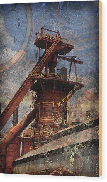 Steampunk Iron Mill Wood Print