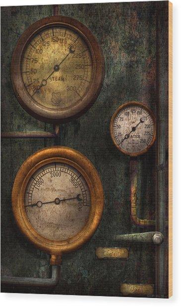 Steampunk - Plumbing - Gauging Success Wood Print