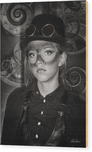 Steampunk Princess Wood Print