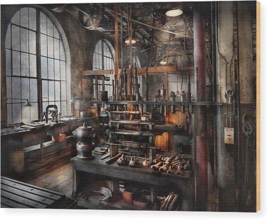 Steampunk - Room - Steampunk Studio Wood Print