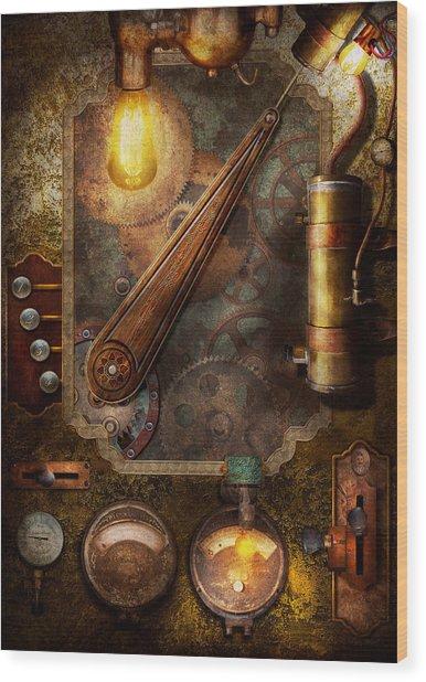 Steampunk - Victorian Fuse Box Wood Print