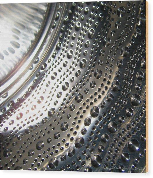 Steel Bubbles Wood Print