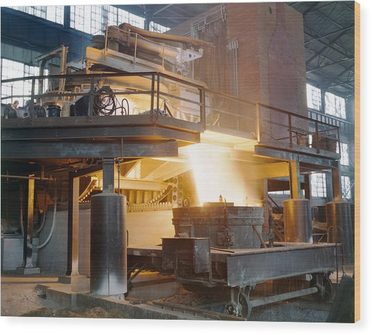 Steel Foundry, C1941 Wood Print by Granger