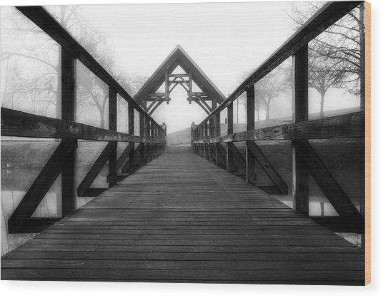 Steele Creek Crossing Wood Print