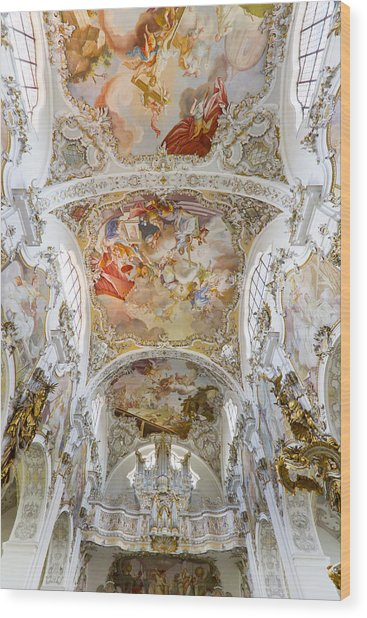 Steingaden Abbey Wood Print
