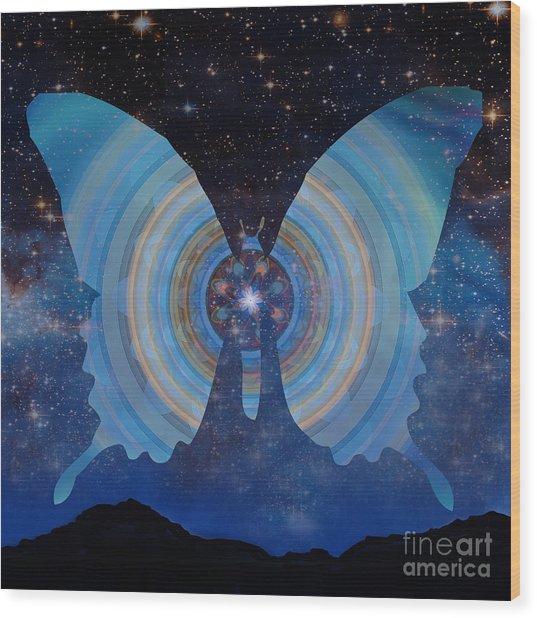 Stellar Butterfly Wood Print