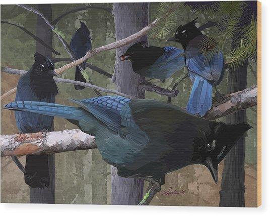Steller's Jays Wood Print