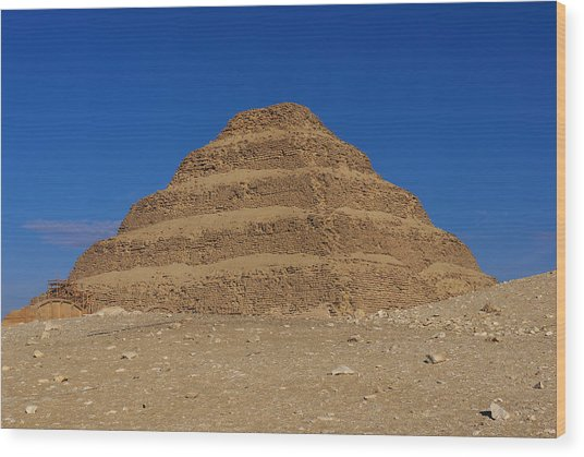 Step Pyramid Of King Djoser At Saqqara  Wood Print