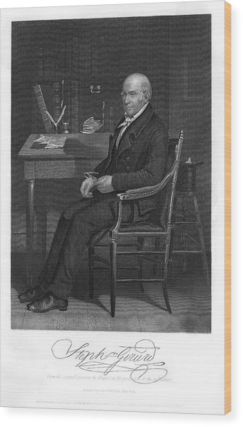 Stephen Girard  American Statesman Wood Print by Mary Evans Picture Library