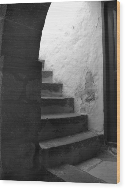 Steps On Patmos Wood Print