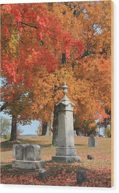 Sterling Ma Burial Ground Wood Print