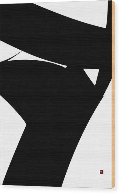 Stern Wood Print by Edward Jensen