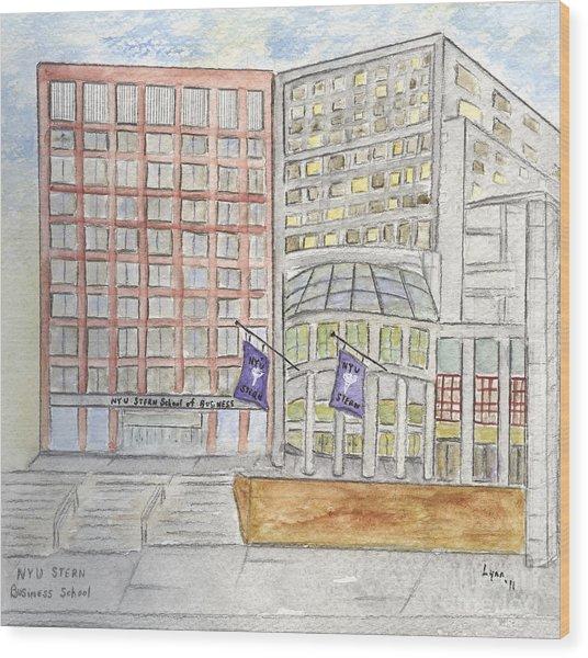 Nyu Stern School Of Business Wood Print