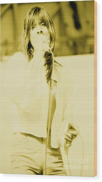 Steve Perry Of Journey At Day On The Green - July 27th 1980 Wood Print