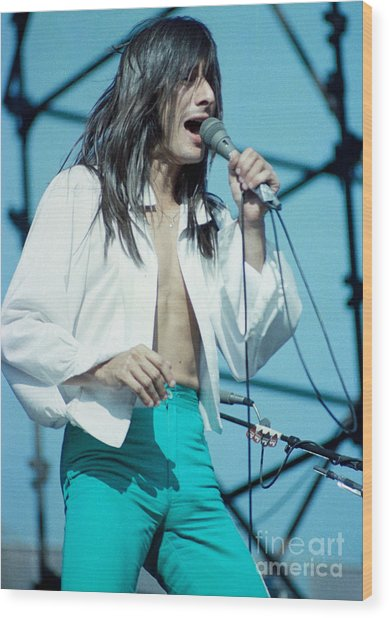 Steve Perry Of Journey At Day On The Green - July 1980 Wood Print
