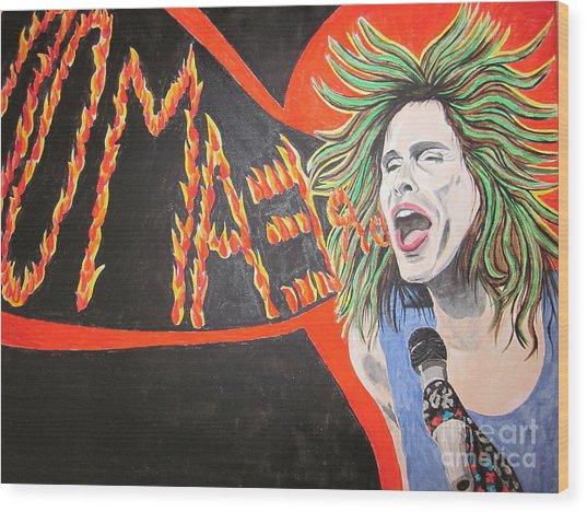 Steven Tyler Dream On Wood Print by Jeepee Aero