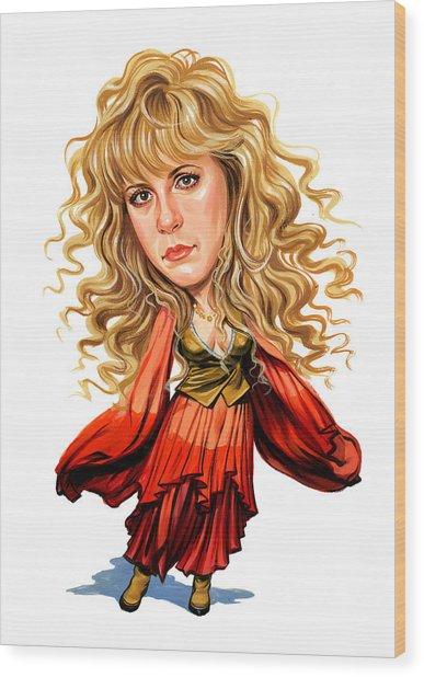 Stevie Nicks Wood Print by Art