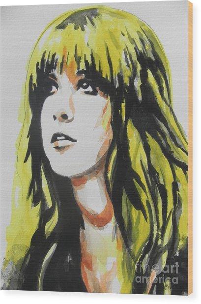 Stevie Nicks 01 Wood Print