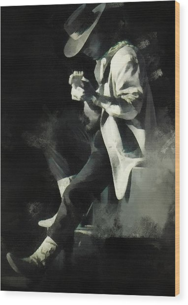 Stevie Ray Wood Print