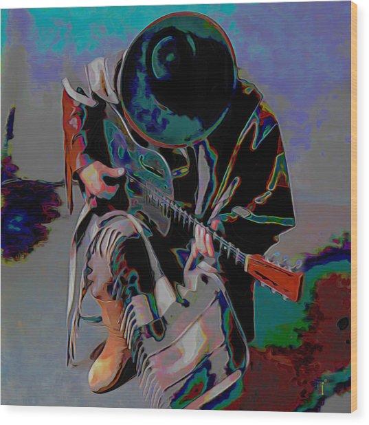 Stevie Ray Vaughan Srv Wood Print