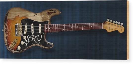 Stevie Ray Vaughan Stratocaster Wood Print