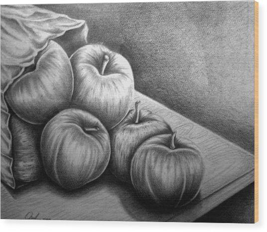 Still Life Drawing Wood Print