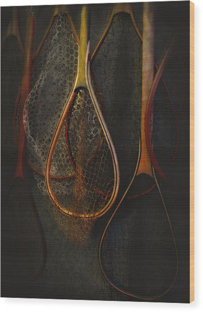 Still Life - Fishing Nets Wood Print