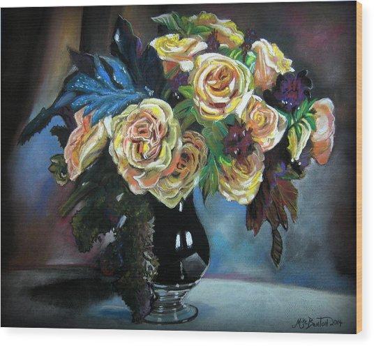 Still Life Flowers Wood Print