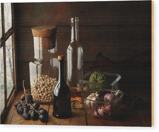 Still Life With Chickpea Wood Print by Luiz Laercio
