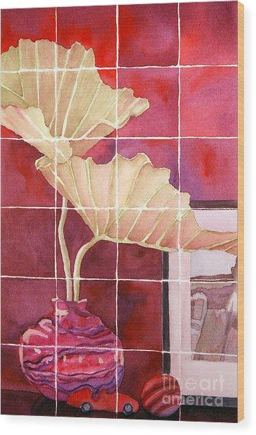 Still Life With Grid Wood Print by Gwen Nichols