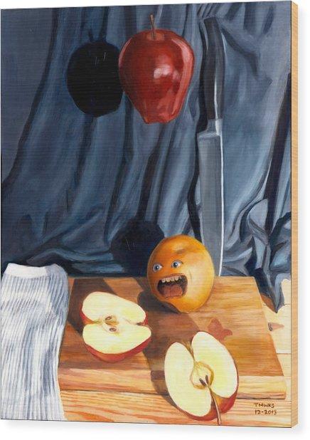 Still Life With Orange  No. 4 Wood Print