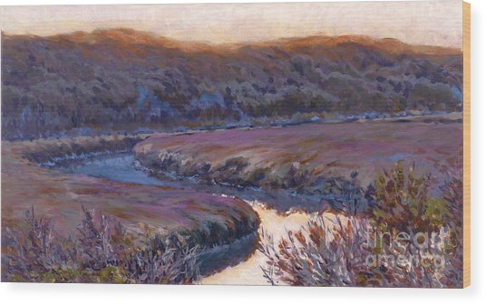 Stillness At Twilight Wood Print by Betsee  Talavera