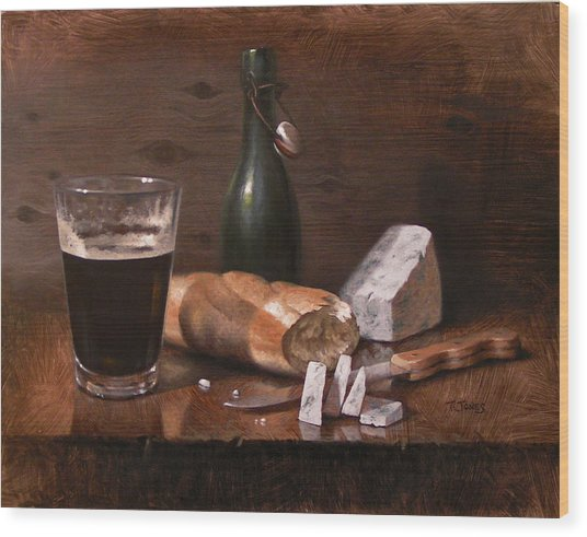 Stilton And Porter Wood Print by Timothy Jones